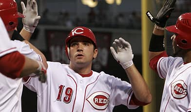 First baseman Joey Votto made an immediate impact with the Reds last September, hitting .321 in 24 games with four home runs and 17 runs batted in. (David Kohl/Associated Press)