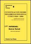 Investigación sobre el desarrollo regional (Cuzco, 1950-1980). Informe: sector salud