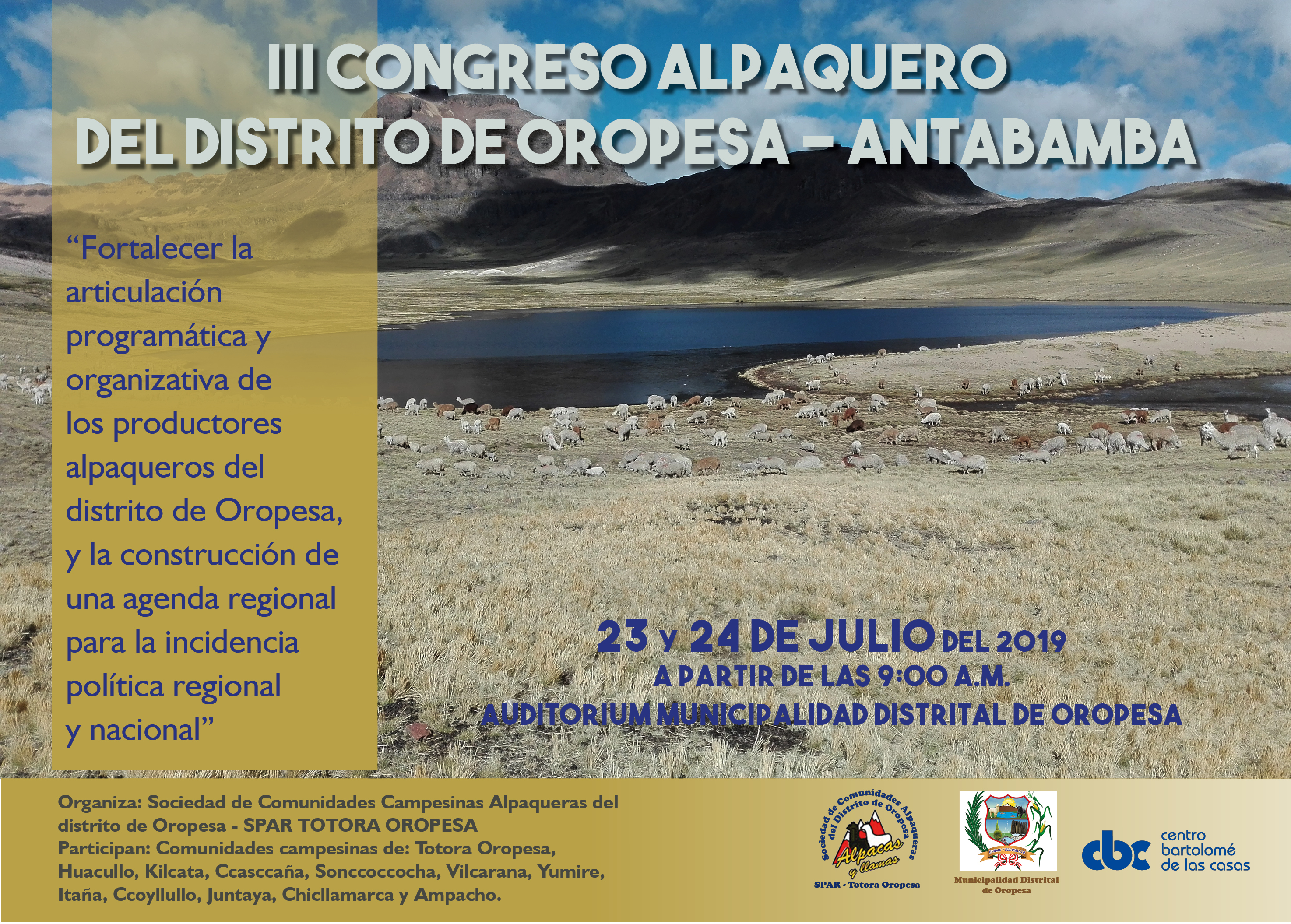 Tercer Congreso Alpaquero – Totora
