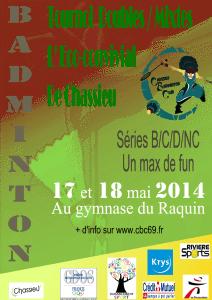 7ème Tournoi régional les 17 et 18 mai 2014