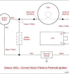 diagram of how to wire a pertronix ignition in a stock 240z  [ 982 x 909 Pixel ]