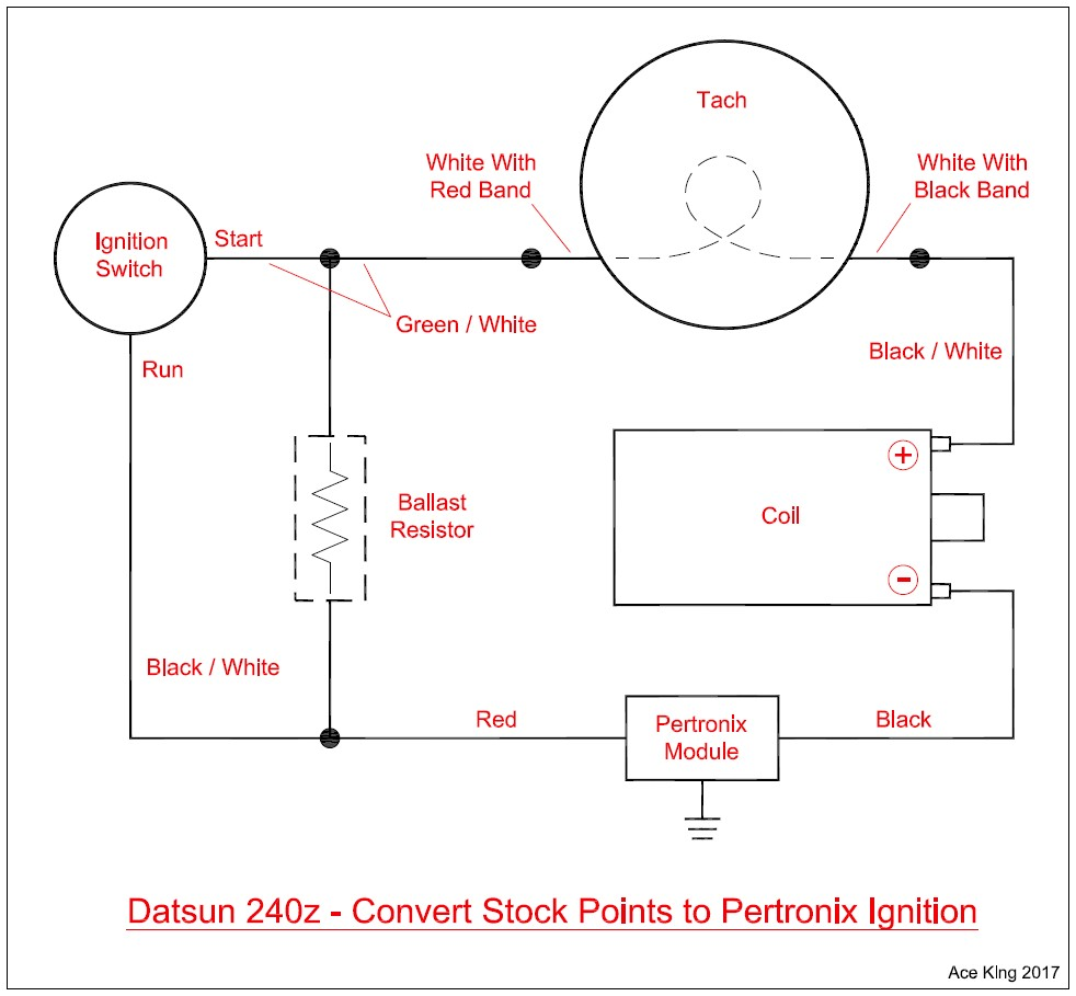 hight resolution of diagram of how to wire a pertronix ignition in a stock 240z