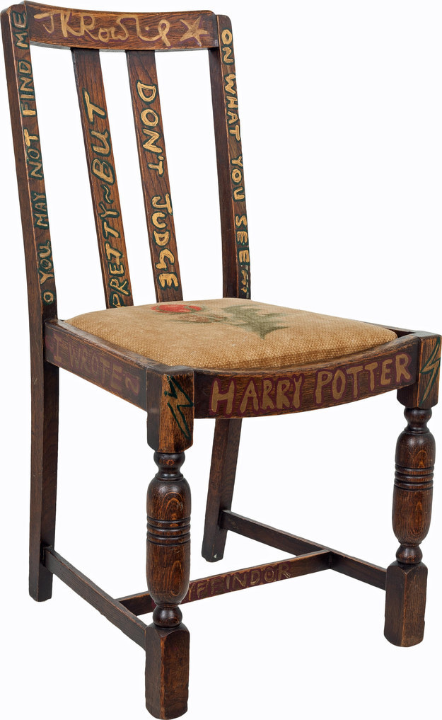 JK Rowlings Writing Chair up for Auction  Childrens