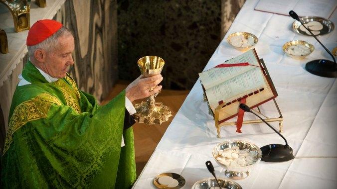 Cardinal Tauran gives thanks for