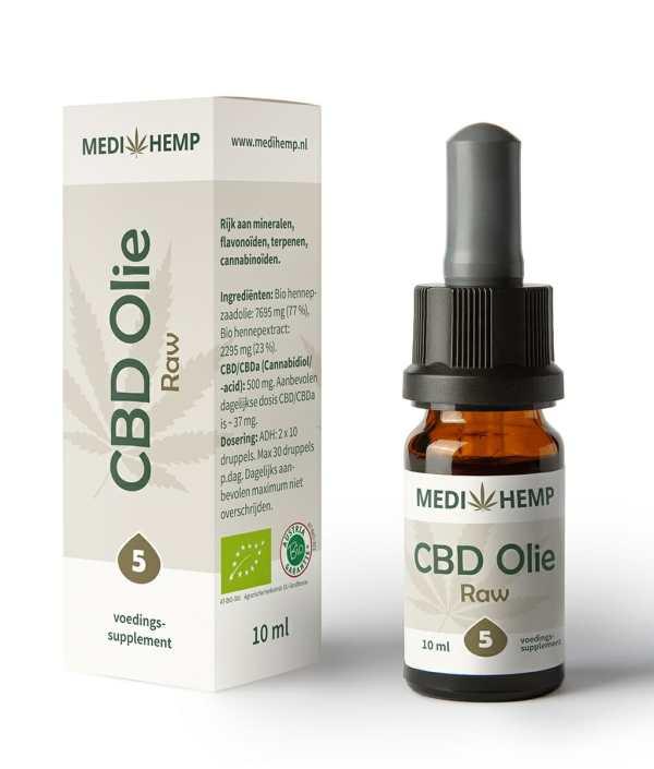 CBD olie 5 procent 10 ml Medihemp