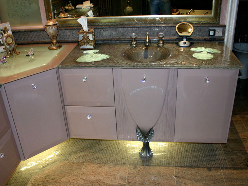 DOUBLE INTEGRATED GLASS SINK IS13  CBD Glass