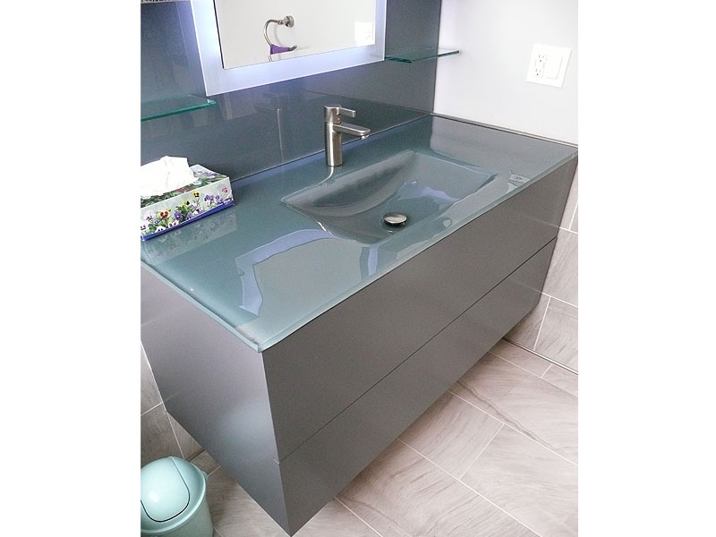 INTEGRATED COLORED GLASS SINK IS17  CBD Glass