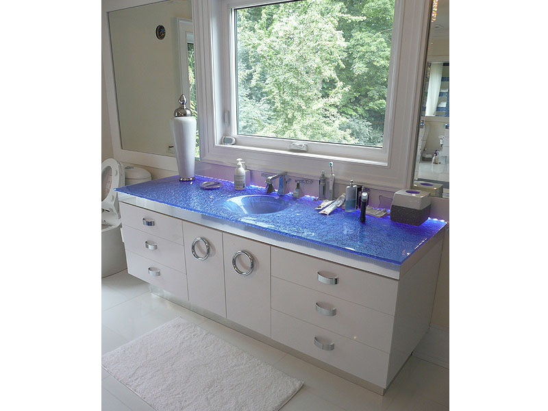 INTEGRATED COLORED GLASS SINK IS19  CBD Glass