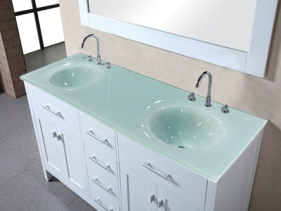 Integrated Glass Sinks  Colored Glass  CBD Glass