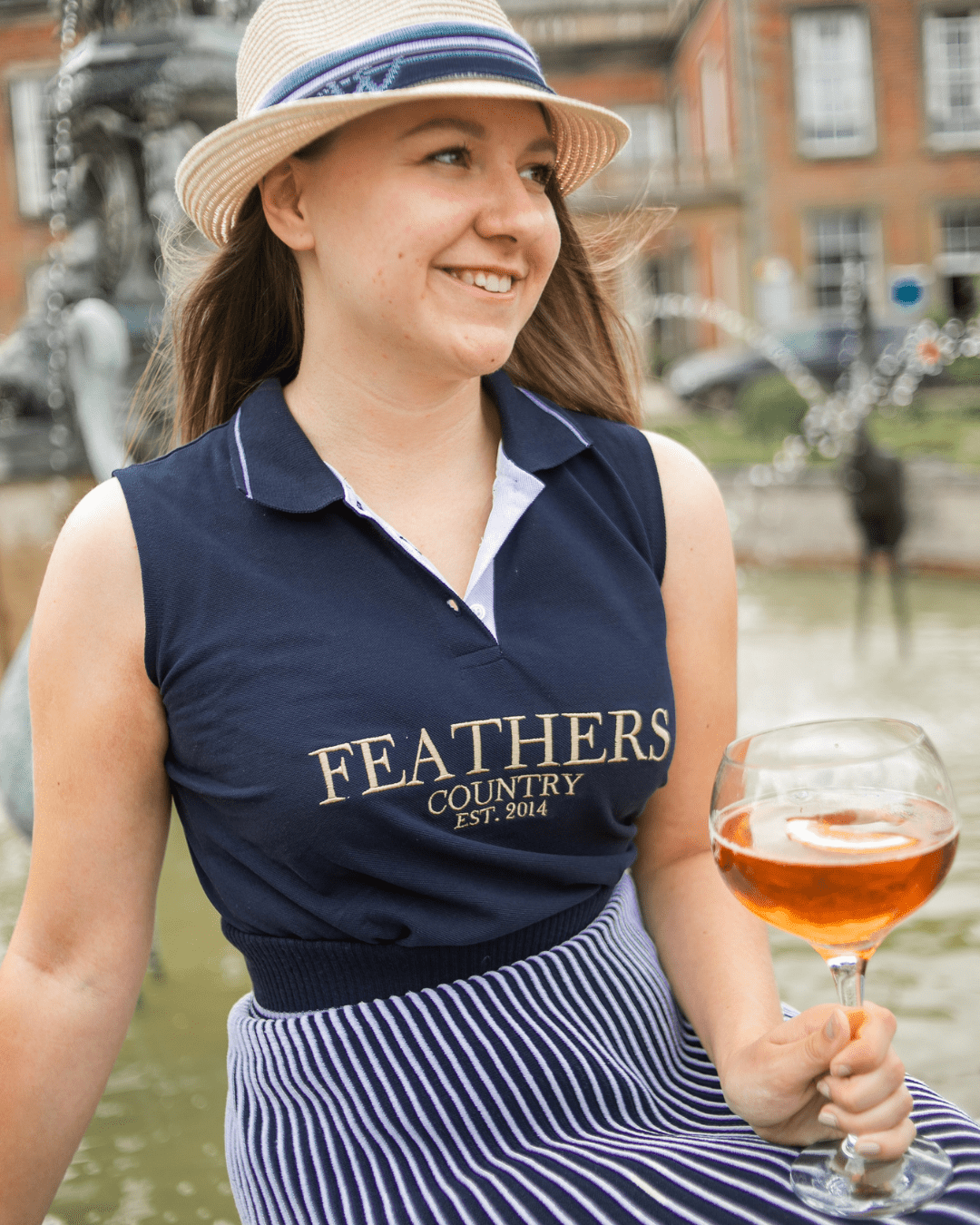 Amy wearing Feathers Country
