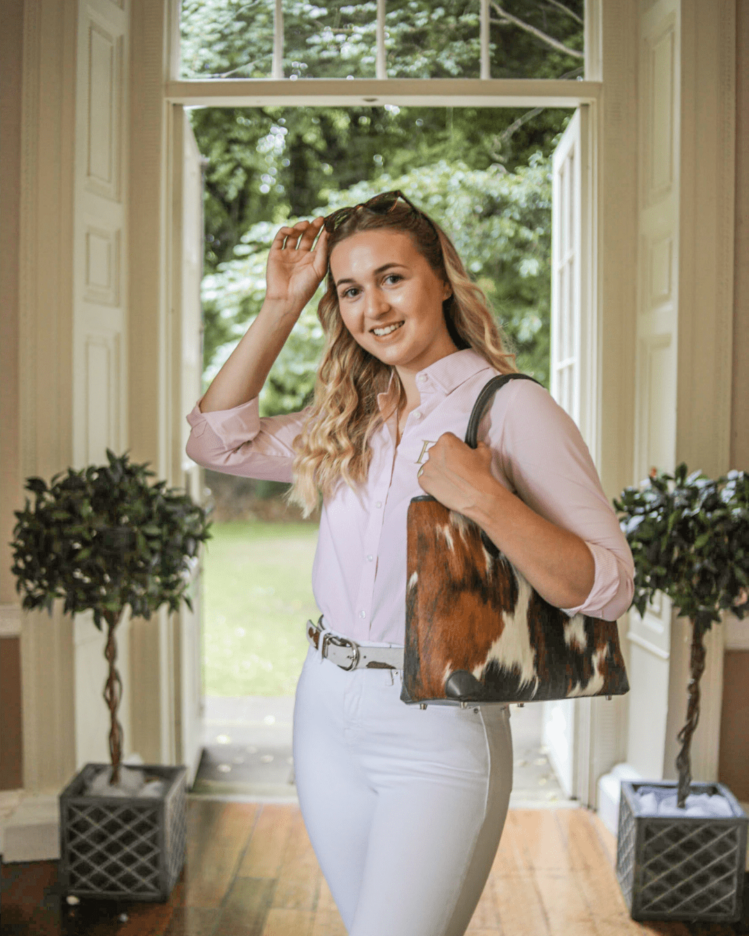 Jess wearing Hyde & Hare and Feathers Country
