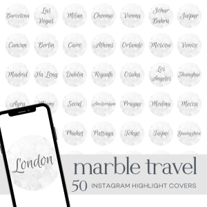 Marble Travel | Instagram Highlight Covers