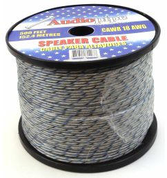 cawr18bu500 audiopipe twisted speaker wire 18 gauge blue [ 1500 x 1500 Pixel ]