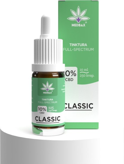 CBD olej/kvapky MEDBAX, 10 %
