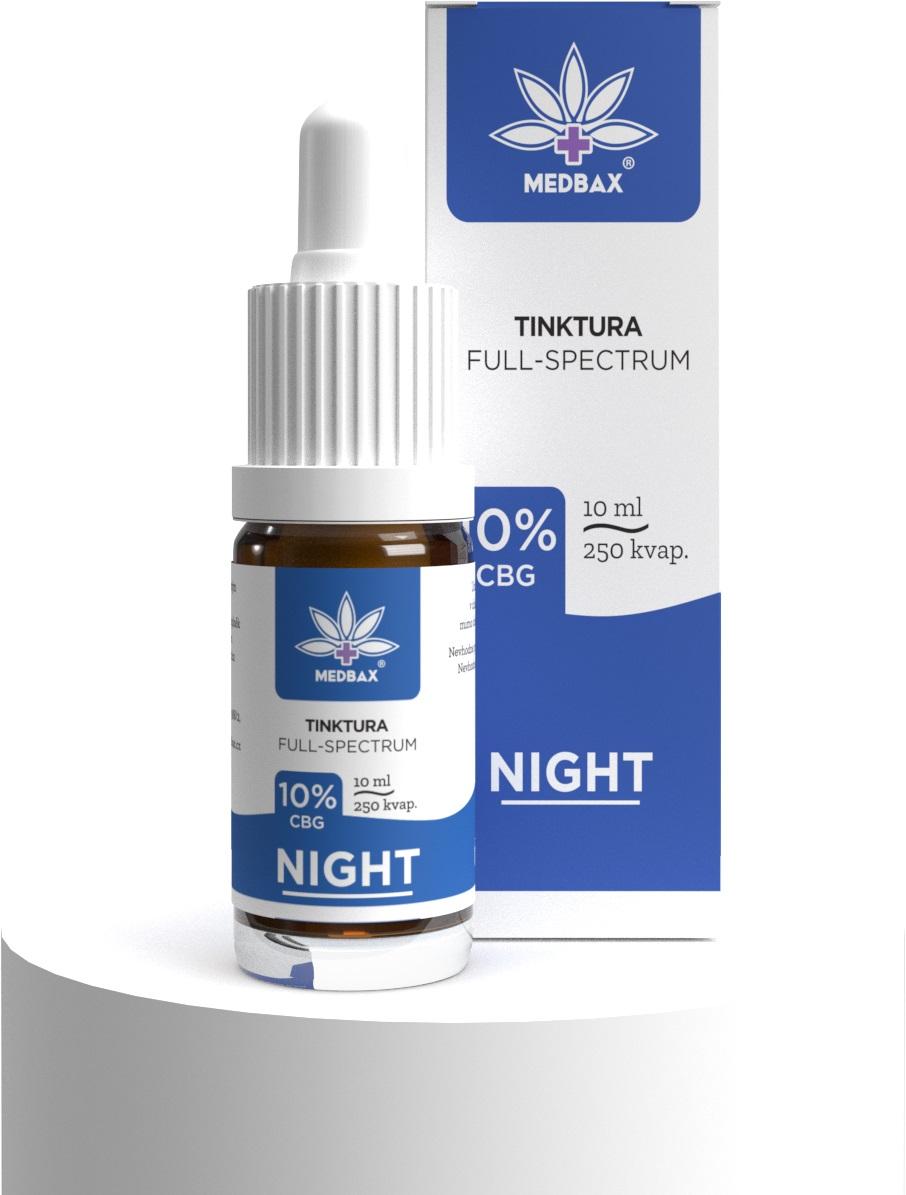 CBG olej/kvapky MedBax, 10 %, pre lepší spánok