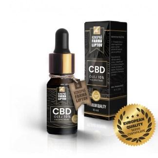 CBD olej/kvapky Konopná Farma Liptov, 10 %