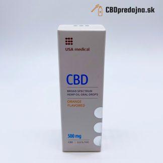 CBD olej USA medical, 500 mg, Pomaranč, 10ml