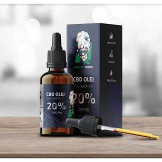 CBD olej/kvapky Zelena Bába, 20%
