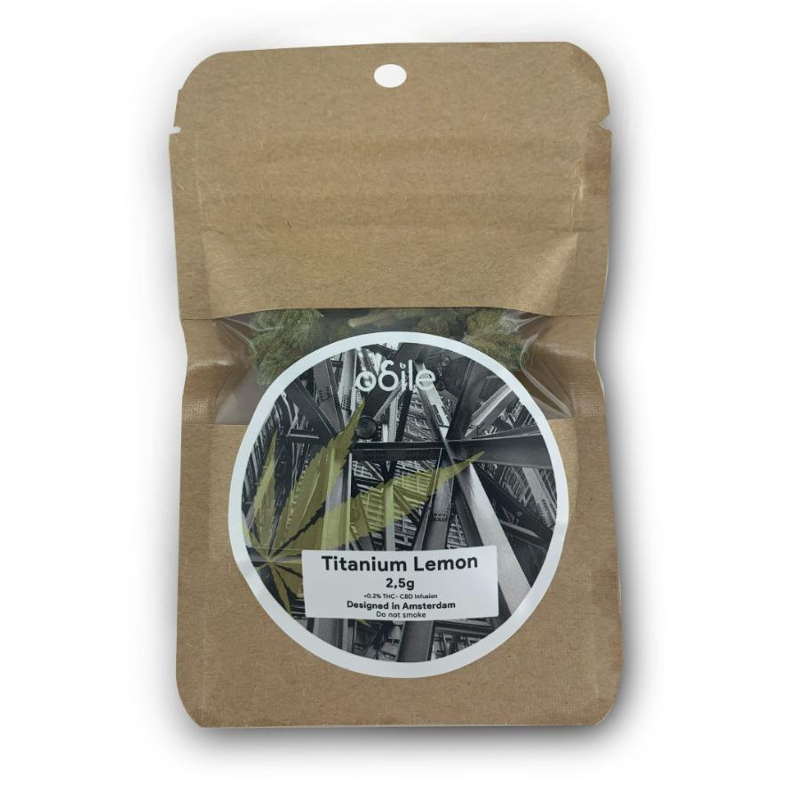 CBD kvety Odile, Titanium Lemon, 2.5g