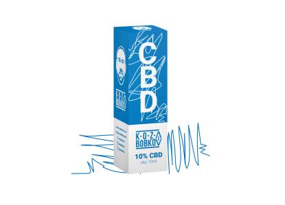 CBD kvapky Koza Bobkov, 10 % CBD izolát, 10ml