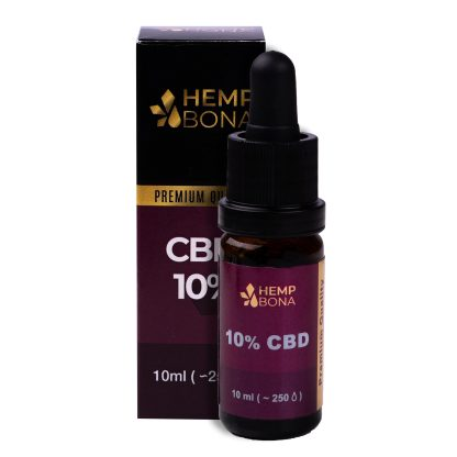 CBD kvapky HempBona, 10 % Full spectrum, 10ml
