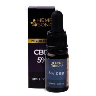 CBD kvapky HempBona, 5 % Full spectrum, 10 ml
