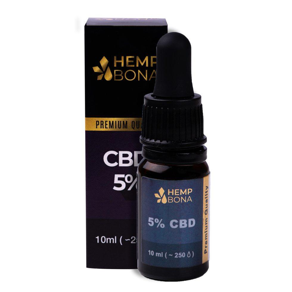 CBD kvapky HempBona, 5 % Full spectrum, 10ml