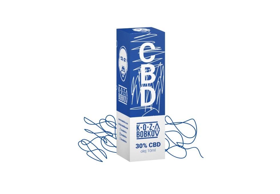 CBD kvapky Koza Bobkov, 30 %, 10ml