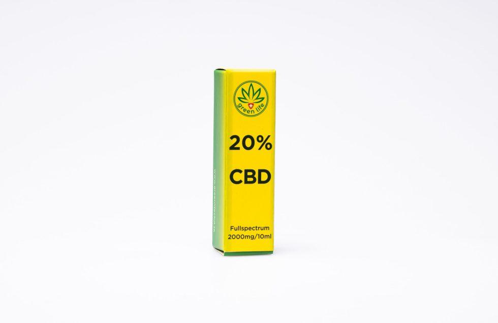 CBD kvapky GreenLife, 20% Full Spectrum, 10ml