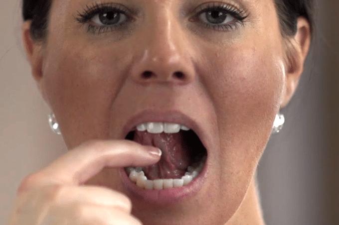 Showing Tongue