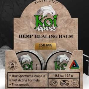 Koi Naturals Hemp Healing Balm 150mgTravel Size