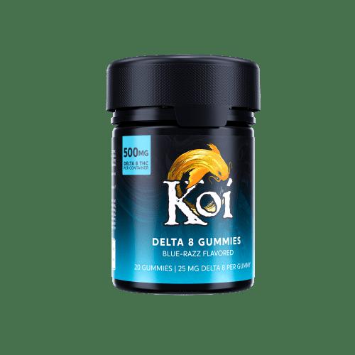 Koi Delta-8 THC Blue Razz Gummies