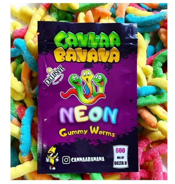 DELTA-8 Neon Gummy Worms