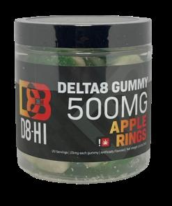 D8-Hi Delta-8 THC Apple Rings Gummies