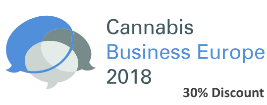 30% discount to the Cannabis Business Europe 2018 event