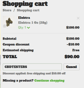 Smoke hemp flowers for less than $3.5/g