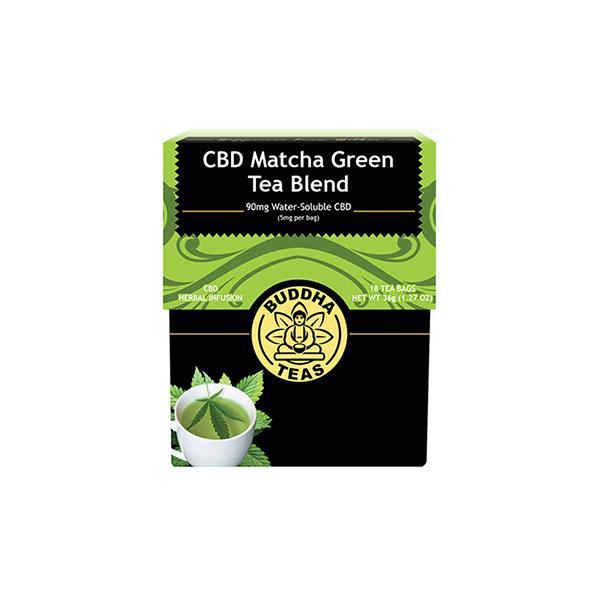 Buddha Teas Matcha Green CBD Tea Bags 5mg