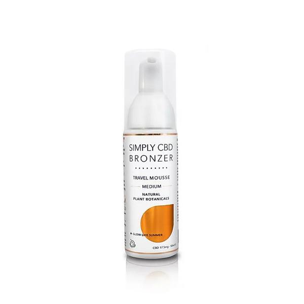 Simply CBD Bronzer 17.5mg CBD Spray Tanning Mousse 50ml