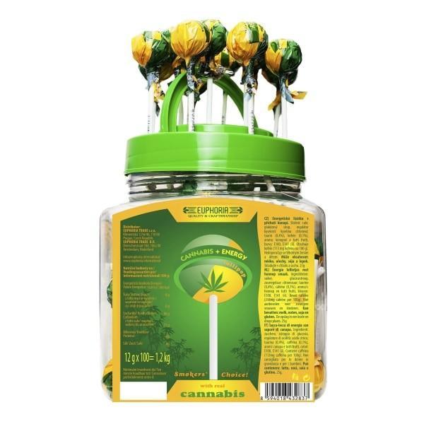 Euphoria  Cannabis + Energy Lollipops 12g x 100pcs (Approx)