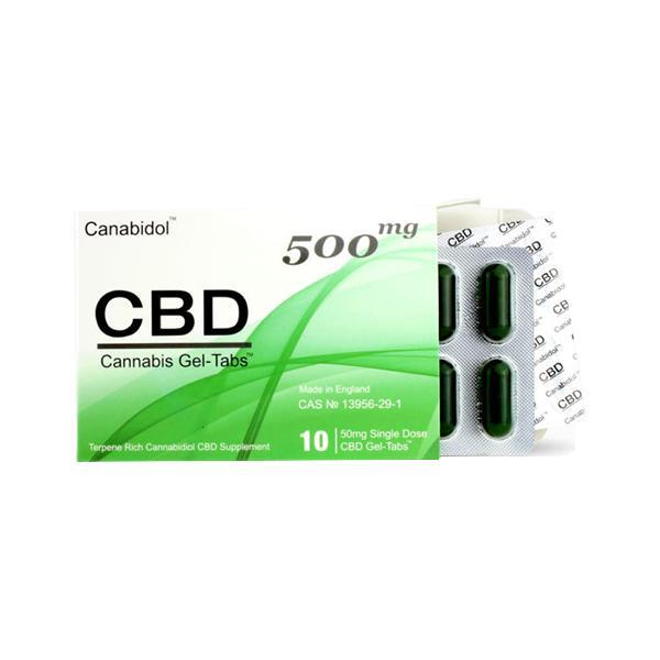 Canabidol 500mg CBD Cannabis Gel Tabs