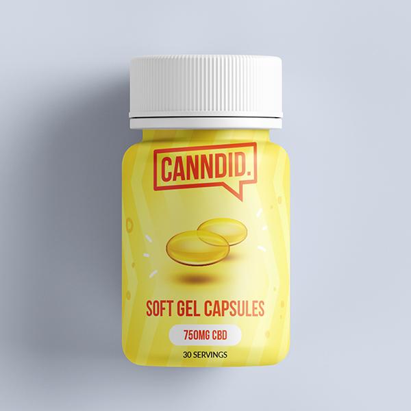 Canndid - CBD Capsules - 25mg (30 Capsules)