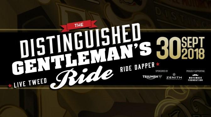 30 septembre: Distinguished Gentleman's Ride Classic