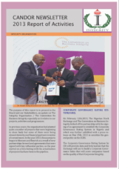 Candor Newsletter 2013 Report