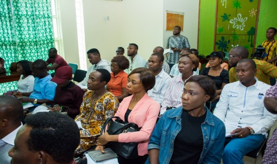 Participants at the public presentation of the Web Application. Participants include: CSOs, Media and prospective independent assessors.
