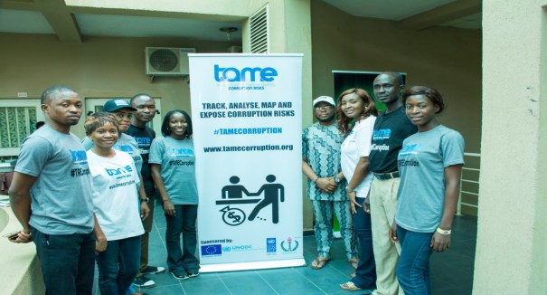The Project TAME team: from left to right: Mr. Safe Ogunjide, Miss Mary Ojeikere, Miss Kemi Asuni, Mr. Seun Oluwafemi, Mrs. Kyura Nyam-Wakkias, Mr. Marho Atumu, Miss Doyin Olawaiy, Mr. John Oke and Miss Ruth James