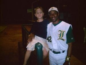 Tom Goodwin with Lewisville Lizards fan