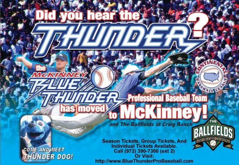 McKinney Blue Thunder 2008 pocket schedule