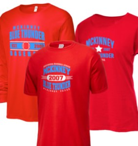 McKinney Blue Thunder Continental Baseball League Merchandise