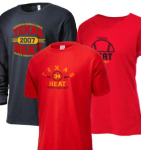 Texas Heat Continental Baseball League Merchandise