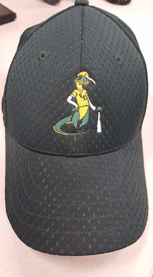 lewisville lizards 2007 green independent minor league baseball cap
